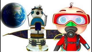 Zool Babies Finding Satellite Underwater | Cartoon Animation Series | Videogyan Kids Shows