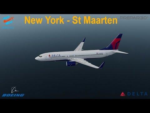 [P3Dv3.4] BEAUTIFUL ST MAARTEN LANDING (VATSIM) | JFK (KJFK) - St Maarten (TNCM) | DELTA