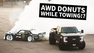 Hoonicorn Townuts! 1400hp AWD Mustang Does Donuts While Being Towed