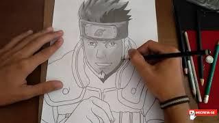 Speed draw Asuma Sarutobi (Naruto).