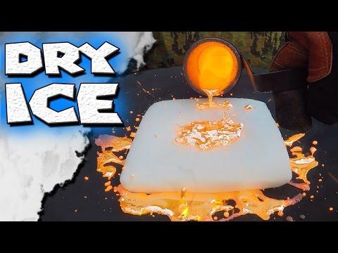Molten Copper vs Dry Ice