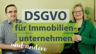 DSGVO für Makler, Hausverwalter, Sachverständige einfach umsetzen.