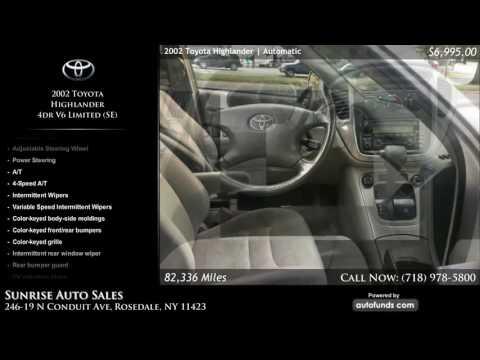 Used 2002 Toyota Highlander   Sunrise Auto Sales, Rosedale, NY