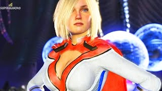 Injustice 2: ALL POWER GIRL INTROS! 1080P 60FPS - Injustice 2