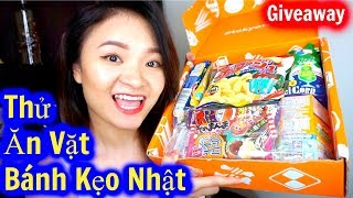 Thử Ăn Vặt Bánh Kẹo Nhật | GIVEAWAY | Try Japan Snacks & Candy Tokyotreat ♡ BeeSweetiee