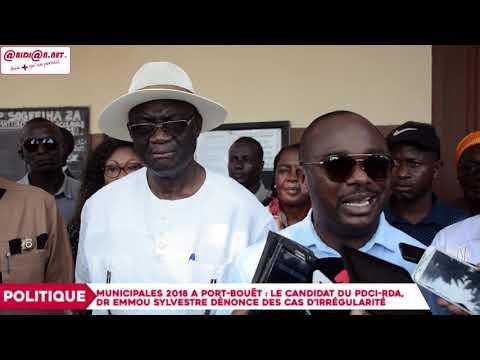 Municipales 2018 à Port-Bouët : Dr Emmou Sylvestre dénonce des cas d'irrégularité