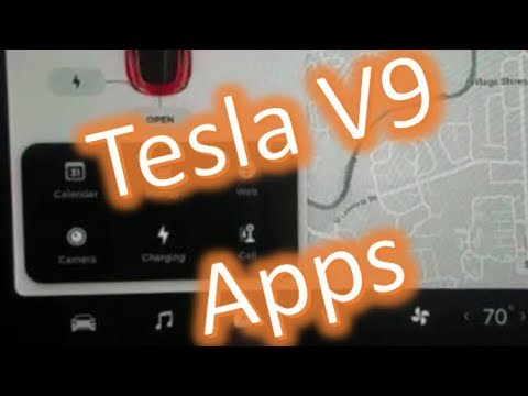 Download Tesla Model 3 New V9 App Launcher and Apps