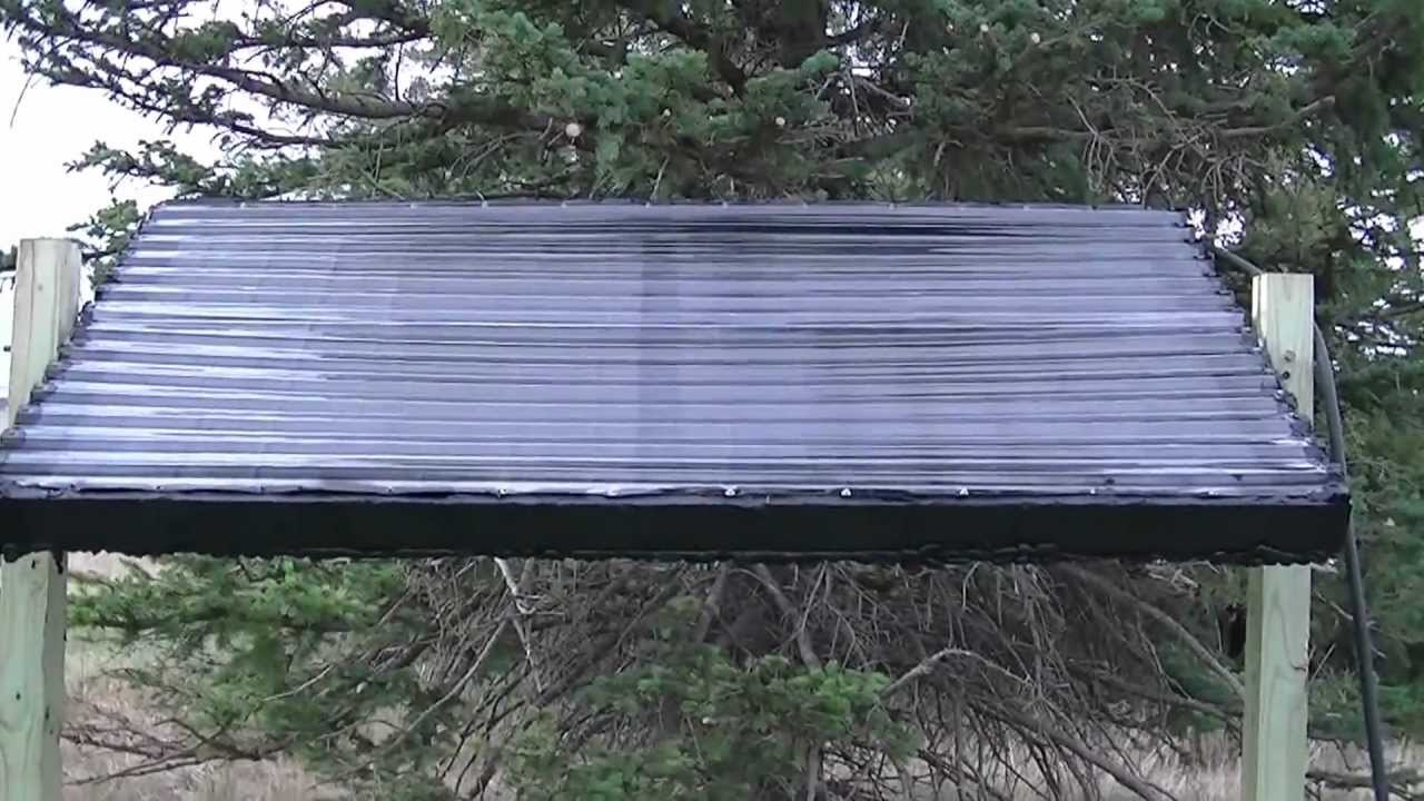 DIY solar-heated spa/soaker tub Part 5 - YouTube