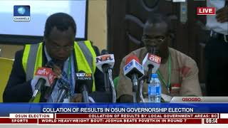 Collation Of Results In Osun Governorship Election Pt.18  Osun Decides 