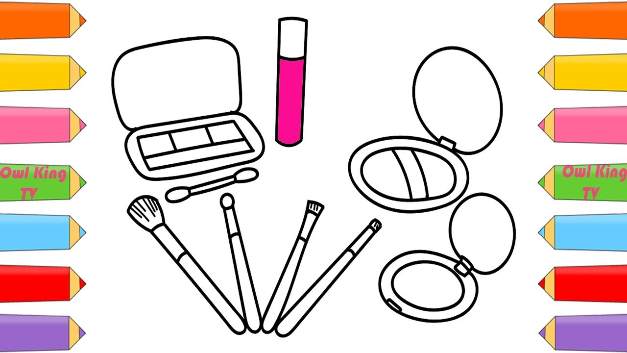 how to draw a makeup set for girls coloring pages bad baby johny johny yes papa owl king tv