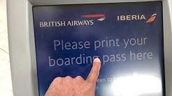 British Airways Heathrow T5 Checking departures