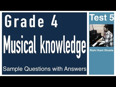 Grade 4 Musical Knowledge Questions with Answers - Test 5
