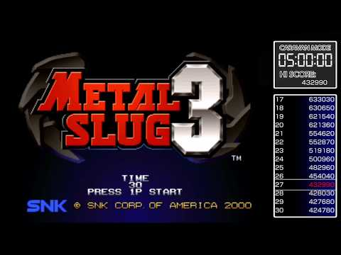 ACA NEOGEO Metal Slug 3 Caravan Mode 500,000 Score Achievement