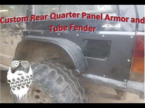Custom Rear Quarter Panel Armor and Tube Fenders Jeep Cherokee XJ