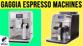 6 Best Gaggia Espresso Machine…