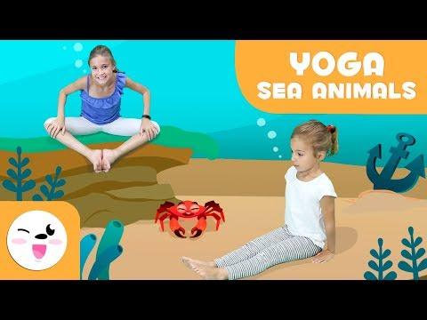 YOGA for Children Aquatic Animals Yoga Poses Yoga Practice Tutorial