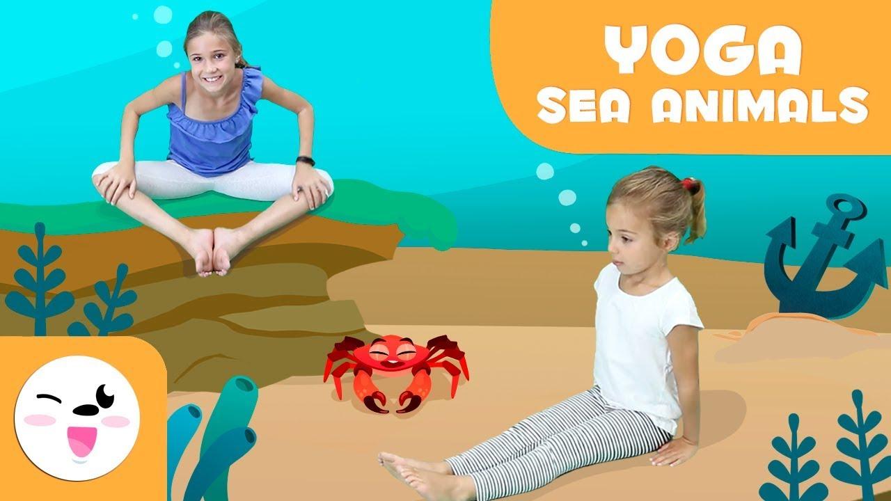 YOGA for Children - Aquatic Animals Yoga Poses - Yoga Practice Tutorial