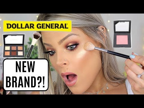 Full Face Of NEW DOLLAR GENERAL Makeup   NEW BRAND?!