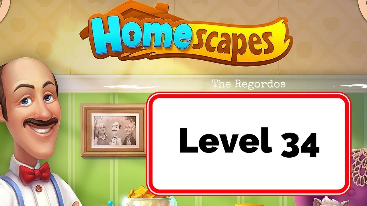Homescapes Stage 34   No Boosters