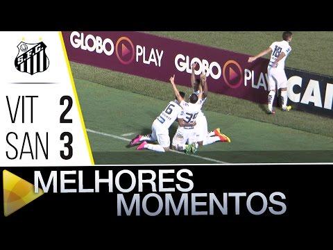 Vitória 2 x 3 Santos | MELHORES MOMENTOS | Brasileirão (24/07/16)