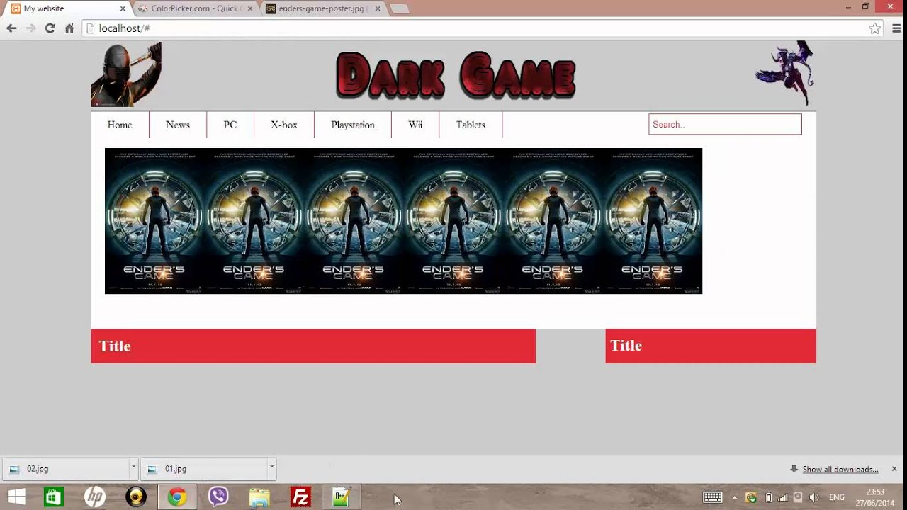 Create website html 5 css3 php ecommerce youtube for How to create template in php