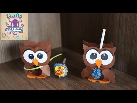 DIY: How to make beautiful owl decoration on a lollipop TUTORIAL