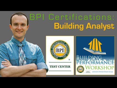 BPI Building Analyst Certification