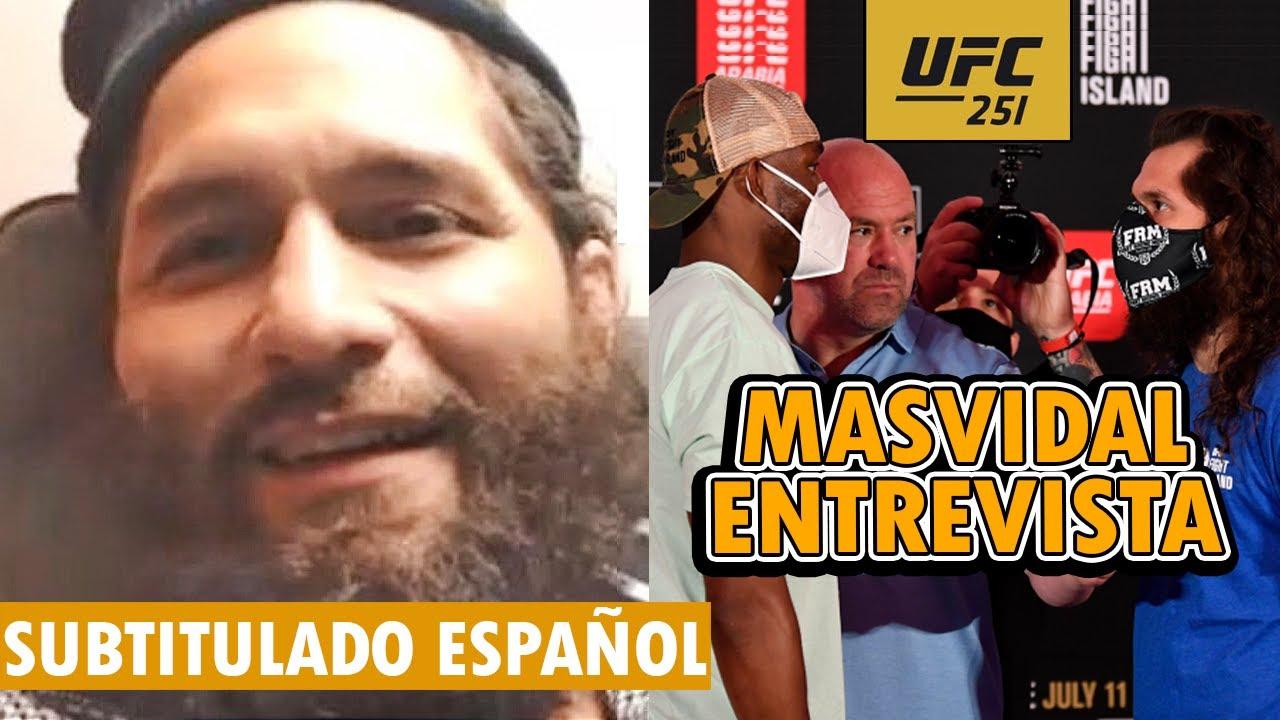 UFC 251: USMAN VS MASVIDAL - Masvidal QUIERE ENFRENTAR a Nate Diaz, Masvidal ENTREVISTA SUBTITULADA