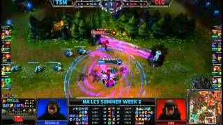TSM VS CLG (Link Twisted Fate/Doublelift Caitlyn) Highlights - NA LCS Summer 2013 W2D2