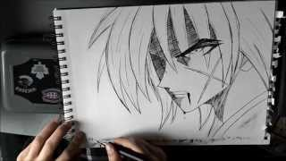 [Kenshin] How to draw Kenshin / Comment dessiner Kenshin