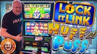 🐷HIGH LIMIT 🐷Huff N' Puff Lock It Link Play & Wins! 🎰