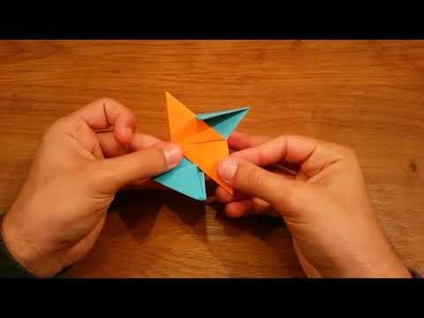 DIY Paper Ninja Fidget Spinner - Easy Ninja Star Spinner Tutorial