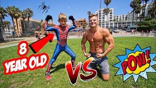 GAME OF FLIP VS 8 YEAR OLD SPIDER-MAN!