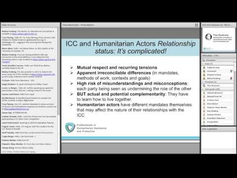 OLS HLP Session 16: The ICC and humanitarian actors