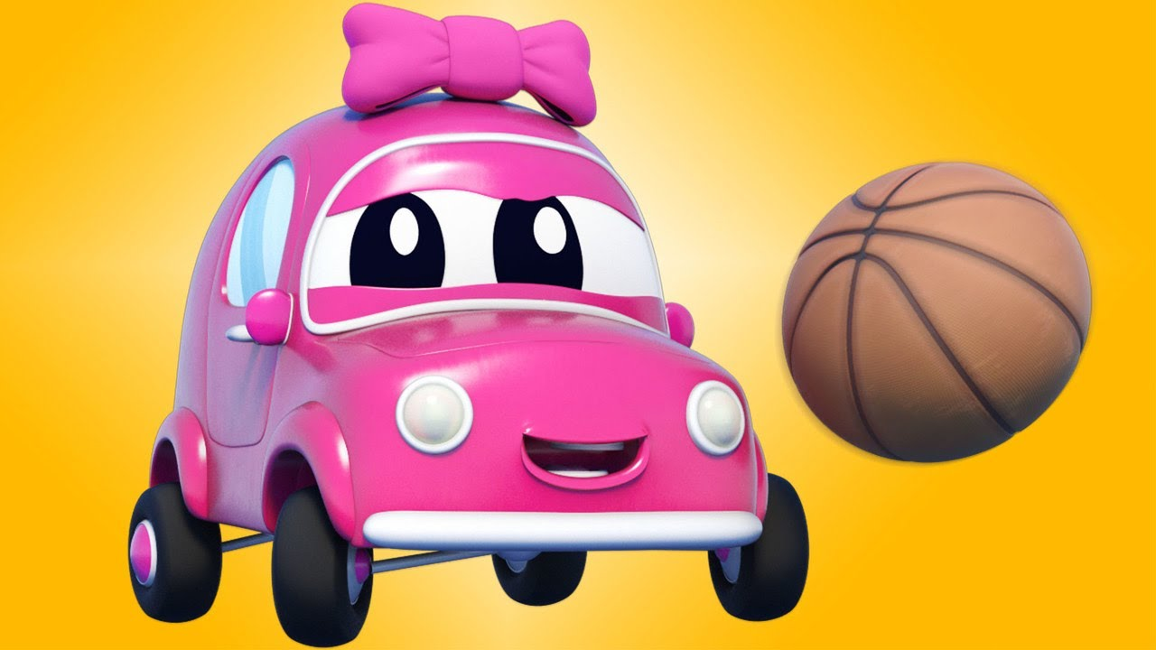 Playing Basketball and Learning with Cars and Trucks for Children