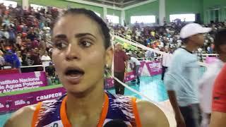 Winifer Fernández habla luego de coronarse campeona en el Voleibol Superior de Rep. Dom.