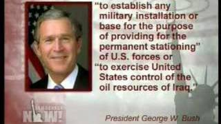 Bush imperialism continues via signing statement