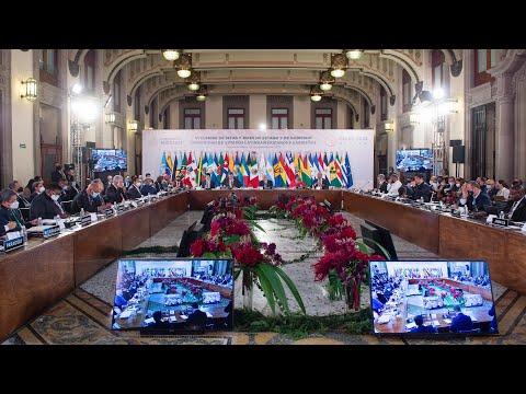 VI Cumbre de la Comunidad de Estados Latinoamericanos y Caribeños (CELAC), desde Palacio Nacional