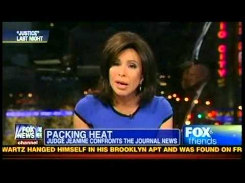 Judge Jeanine Goes after The Journal News on gun control Fox News