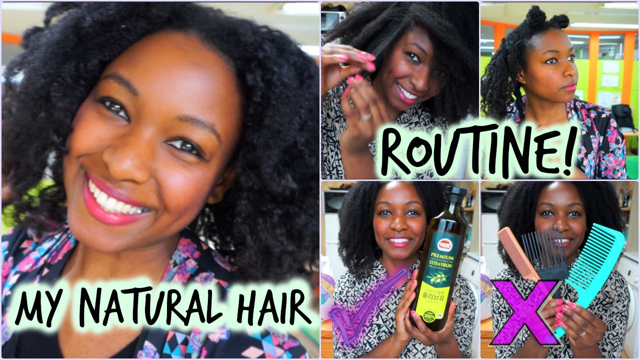 My Natural Hair Routine! Detangle, Wash, Style, Products!