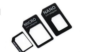 Адаптеры Nano SIM в Micro и Mini SIM