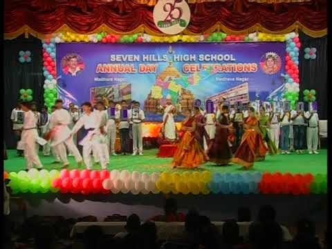 amaravathi  song dance performance by seven hills school  tirupati at silver jubilee function