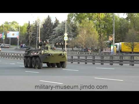 Колонна бронетранспортеров БТР-82А
