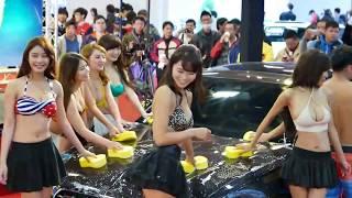 Bikini比基尼洗車秀~2015台北新車大展日本賽車皇后佐野真彩台灣性感女星...