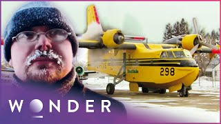 Water Bombers Won't Withṡtand Winter Trans-Atlantic Flight | Ice Pilots NWT | Wonder