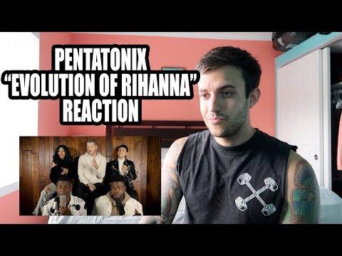 Pentatonix Evolution of Rihanna REACTION