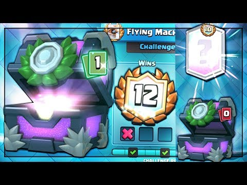 IT HAPPENED!! CRAZY LEGENDARY PULL & 12 WINS! | Clash Royale | LEGENDARY FROM FLYING CHALLENGE!