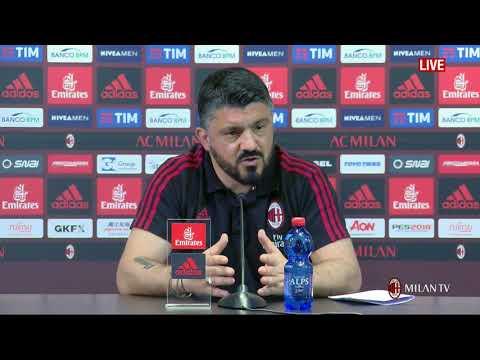 Gattuso conferenza pre Milan - Benevento [FULL HD] 20.04.2018