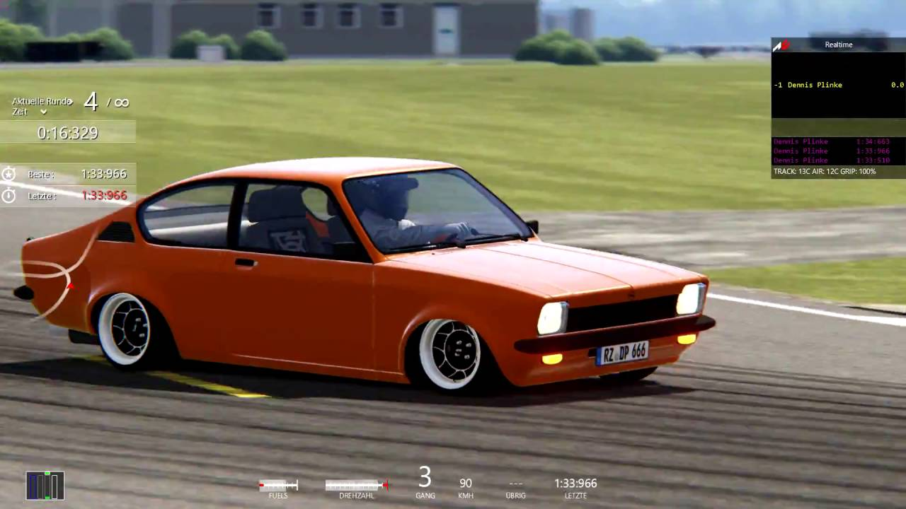 assetto corsa tuning mod driving opel kadett c gt e youtube. Black Bedroom Furniture Sets. Home Design Ideas