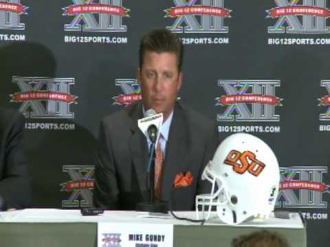 2010 Big 12 Media Day - Mike Gundy